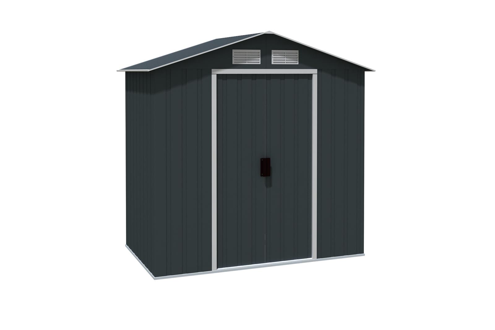 metallger tehaus riverton 6x4 anthrazit 7240. Black Bedroom Furniture Sets. Home Design Ideas