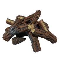 Brennholz aus Keramik Kiefernholz Optik