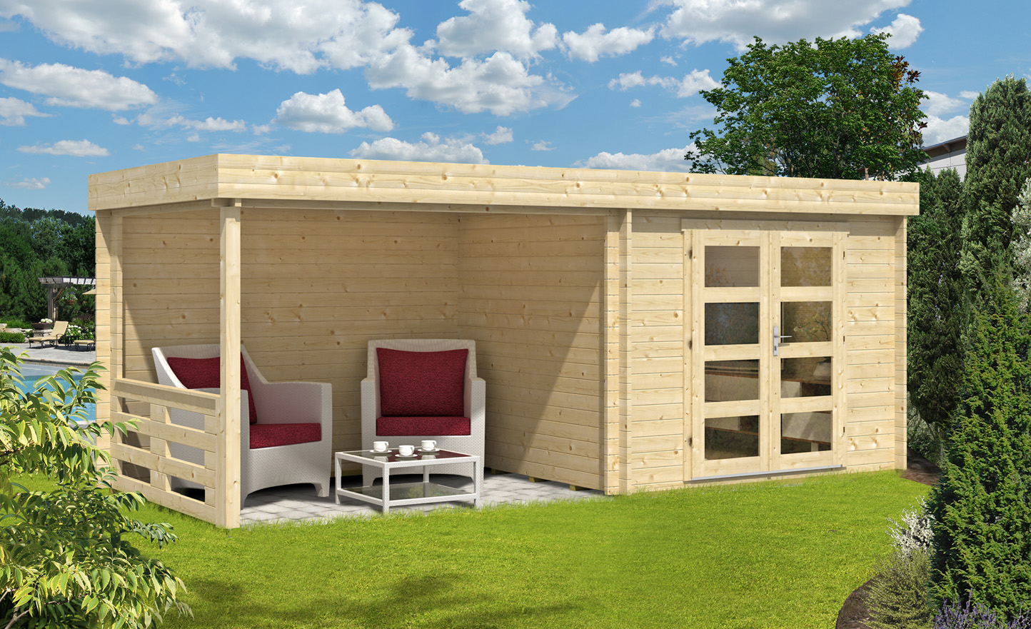 flachdach gartenhaus neustadt 40 gartenhaus neustadt 40. Black Bedroom Furniture Sets. Home Design Ideas