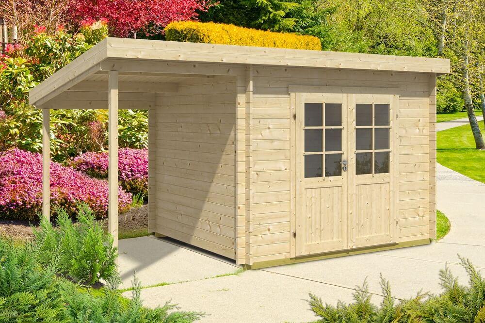 pultdach gartenhaus modell maria 28 mit schleppdach. Black Bedroom Furniture Sets. Home Design Ideas