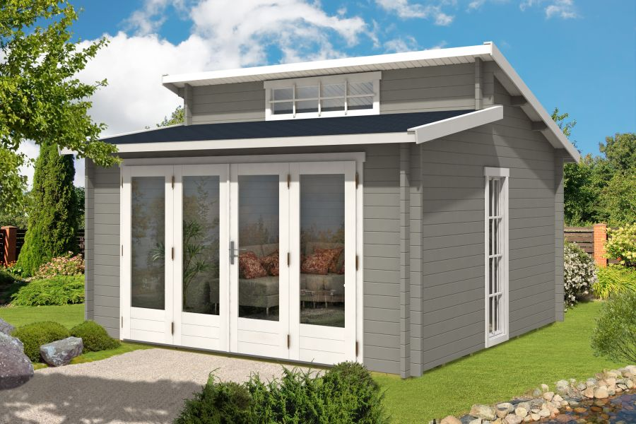 gartenhaus lausitz 40 iso mit faltt r. Black Bedroom Furniture Sets. Home Design Ideas