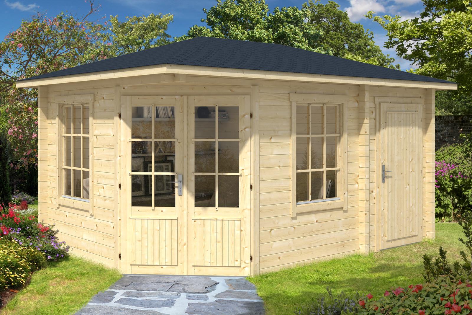 5 eck gartenhaus modell rhein 70. Black Bedroom Furniture Sets. Home Design Ideas