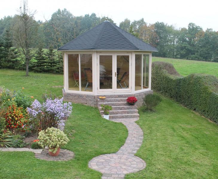 gartenpavillon modell r gen mit vier fenstern. Black Bedroom Furniture Sets. Home Design Ideas