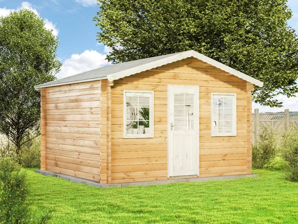 Gartenhaus Diest 28 Holz 390x360 Cm 28mm Satteldach Blockhaus Geratehaus Laube Ebay