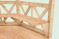 Satz Bänke für Pavillon Kreta 8-XL