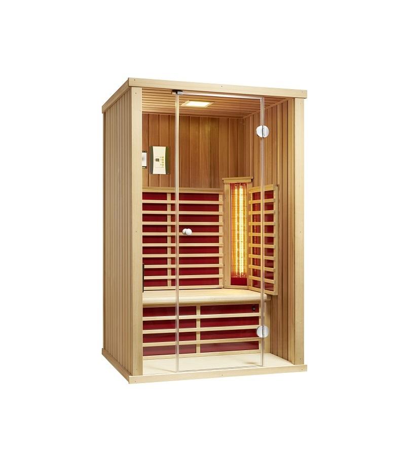 infraworld infrarotkabine vario glas 125 cedar 390144. Black Bedroom Furniture Sets. Home Design Ideas