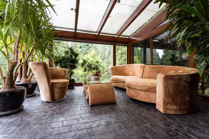 Wintergarten Mit Sofa