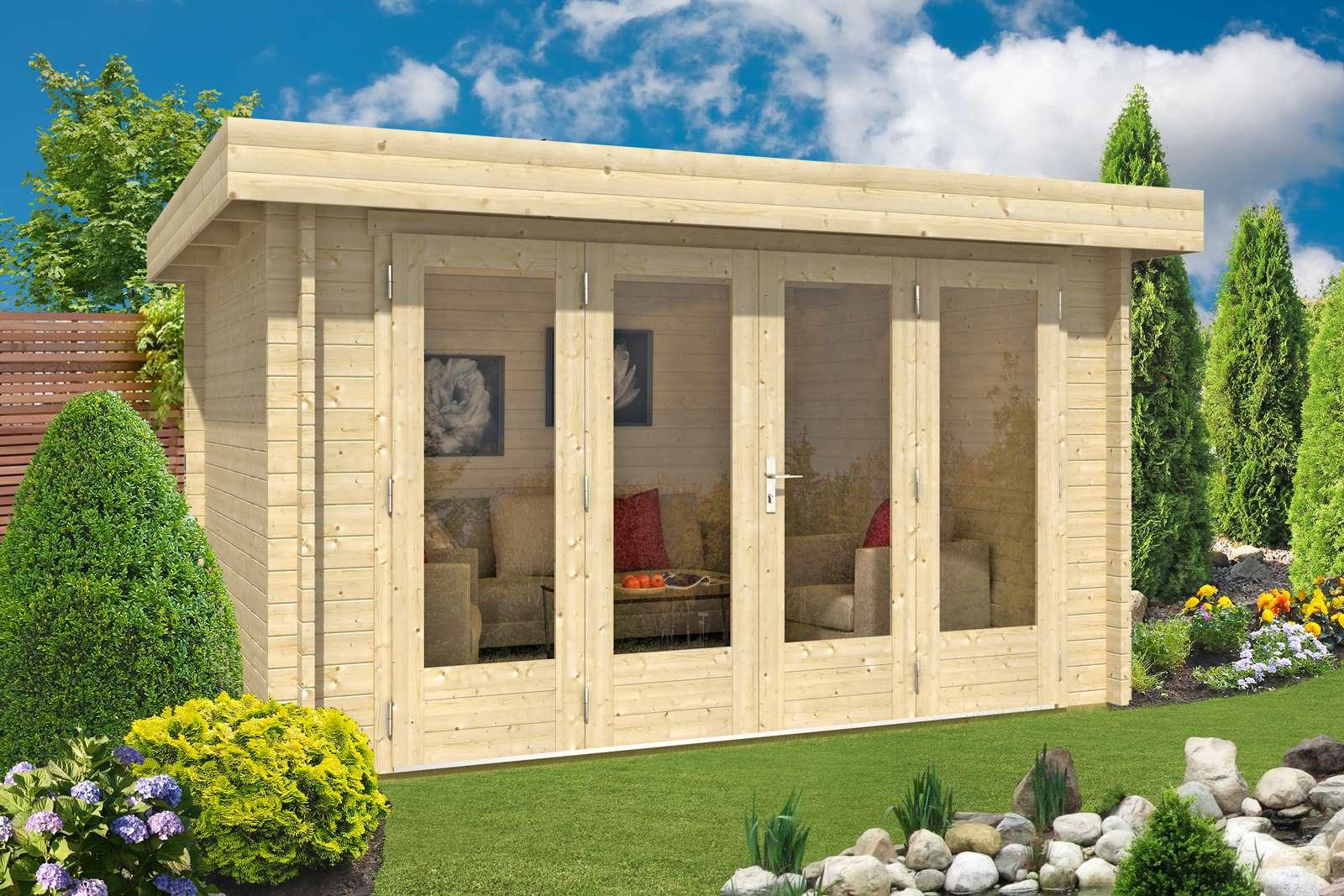 Gartenhaus Mit Unterstand gartenhaus mit flachdach günstig kaufen 0 chf versandkosten