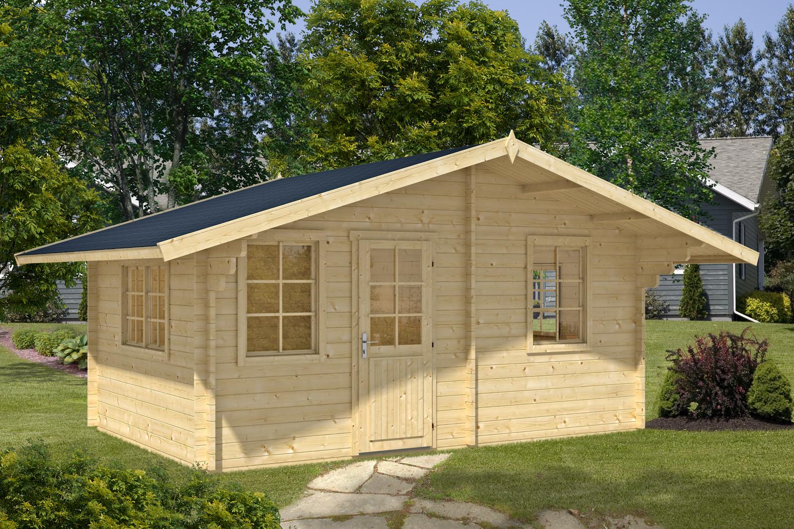 2 raum gartenhaus modell susanna 44 iso. Black Bedroom Furniture Sets. Home Design Ideas