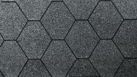 Dachschindeln 6-Eck de luxe schwarz