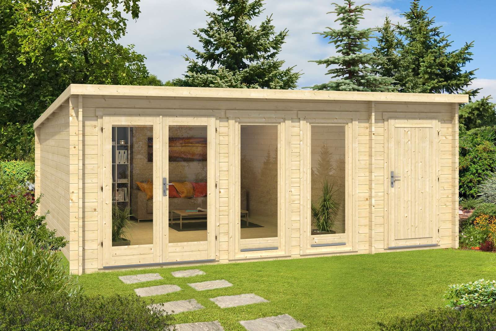 gartenhaus holz 20 qm io98 hitoiro. Black Bedroom Furniture Sets. Home Design Ideas