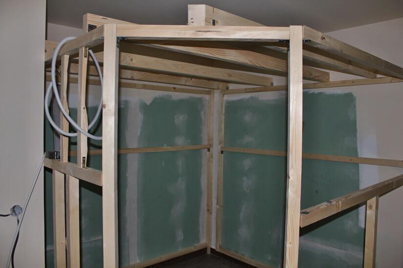 Sauna Aufbau Gerüst