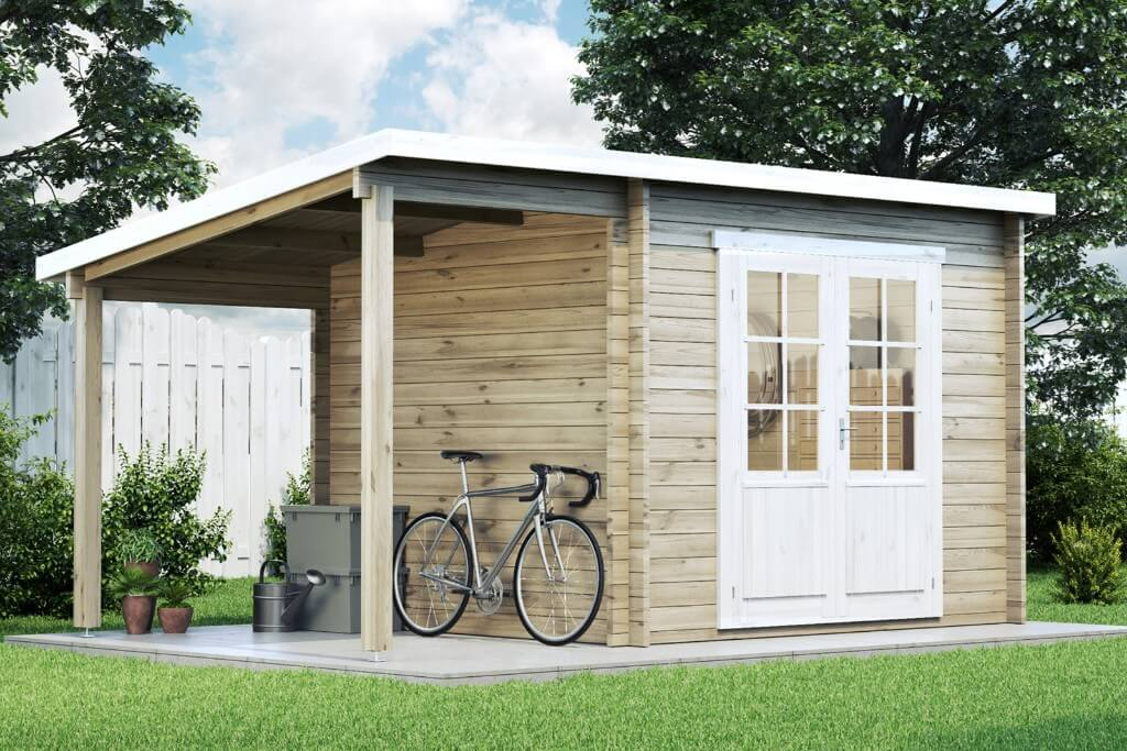 pultdach gartenhaus maria mit schleppdach holz 450x250 cm blockhaus ger tehaus ebay