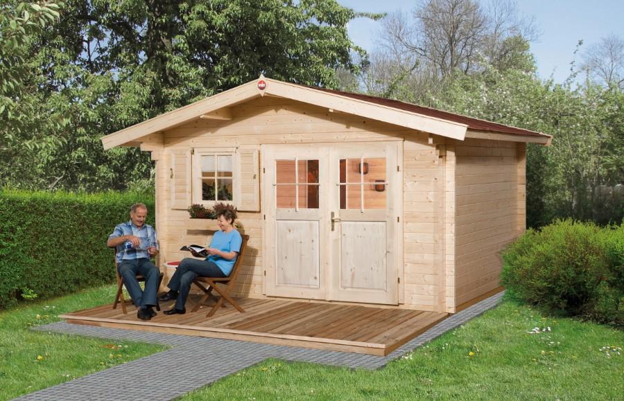 weka gartenhaus 136 gr 1 45 mm. Black Bedroom Furniture Sets. Home Design Ideas