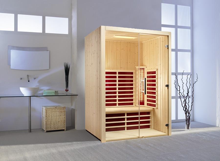 infraworld infrarotkabine fusion glas 145 fichte 390145. Black Bedroom Furniture Sets. Home Design Ideas