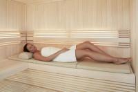 Bankauflage für Sauna