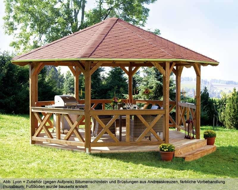 Turbo Holzpavillon kaufen - Holz-Pavillon-Bausätze vom Fachmann EA33