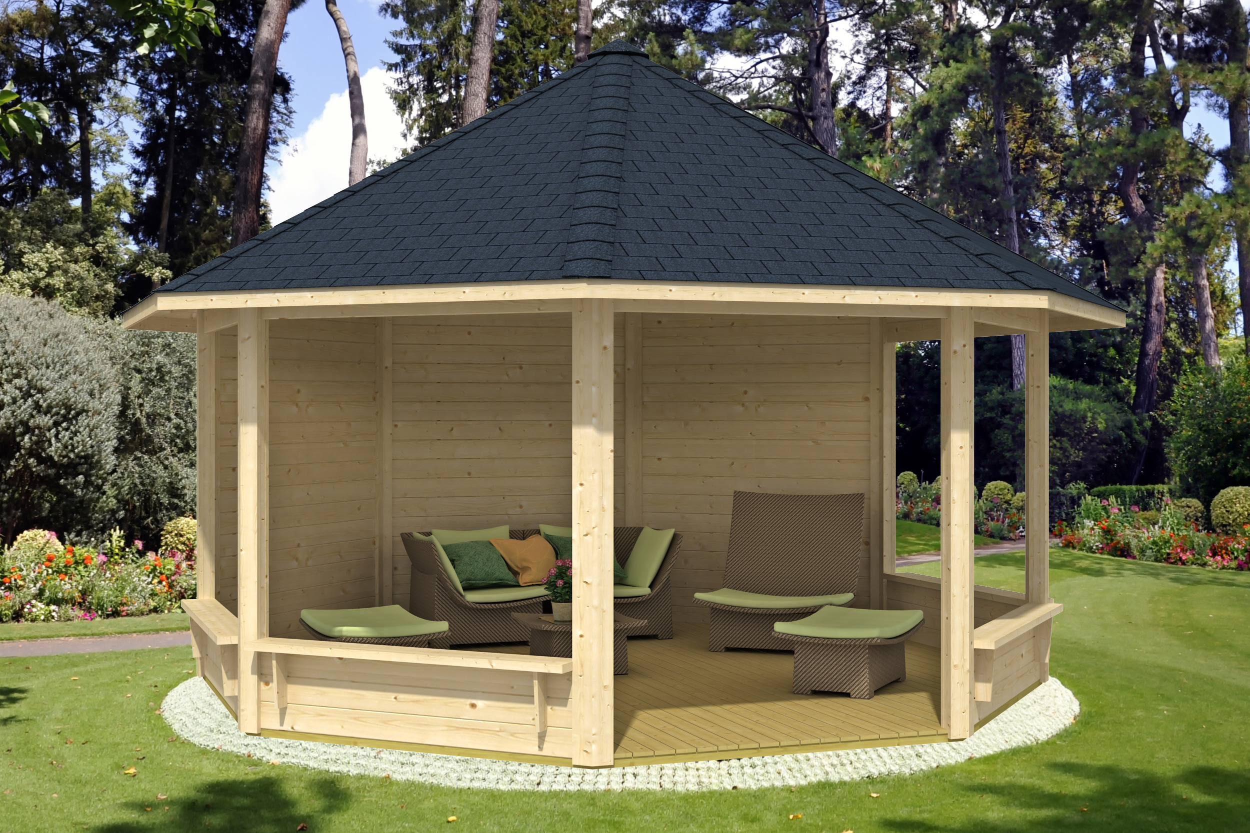gartenpavillon modell pellworm. Black Bedroom Furniture Sets. Home Design Ideas