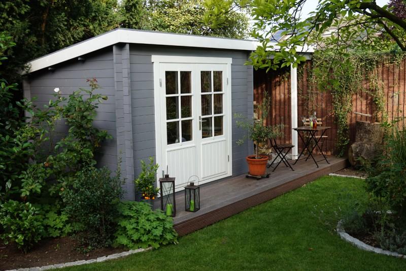 pultdach gartenhaus modell maria 40 iso mit schleppdach. Black Bedroom Furniture Sets. Home Design Ideas