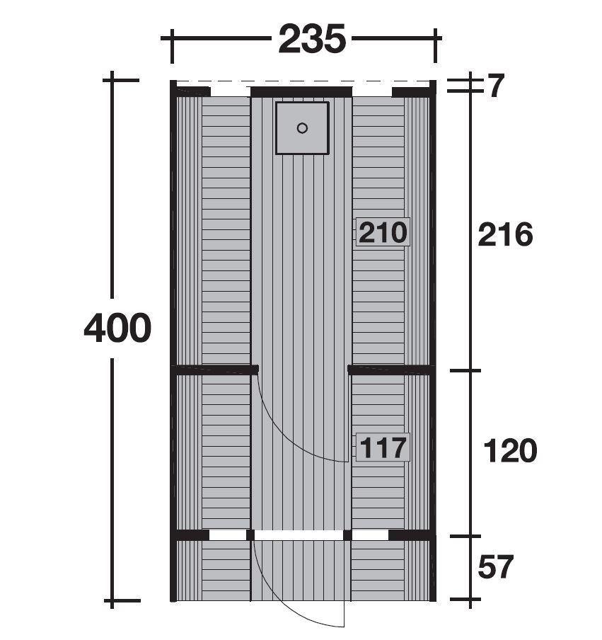 Wolff Finnhaus Saunafass 400 de luxe - montiert 310 665