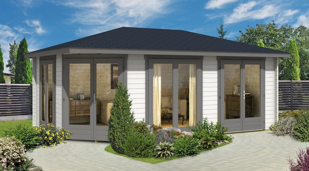 5 eck gartenhaus julia 40 iso. Black Bedroom Furniture Sets. Home Design Ideas