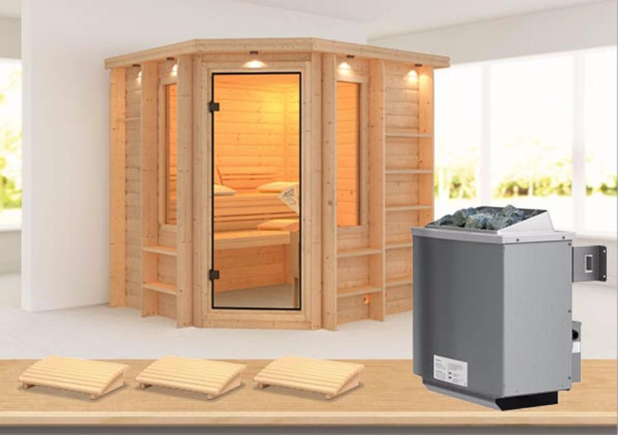 karibu sauna innenkabine cortona. Black Bedroom Furniture Sets. Home Design Ideas