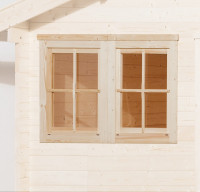 Doppelfenster für Gartenhaus 45 mm, 138x79 cm