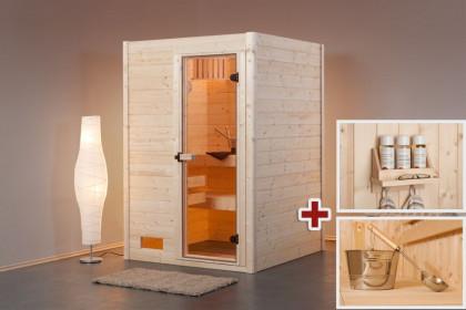 sauna g nstig kaufen sauna bausatz f r zuhause bis zu 30. Black Bedroom Furniture Sets. Home Design Ideas