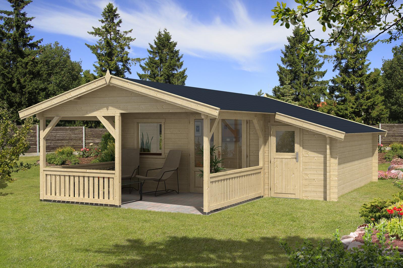 gartenhaus flex 50 c mit 300cm terrasse anbau 4x4 3z. Black Bedroom Furniture Sets. Home Design Ideas