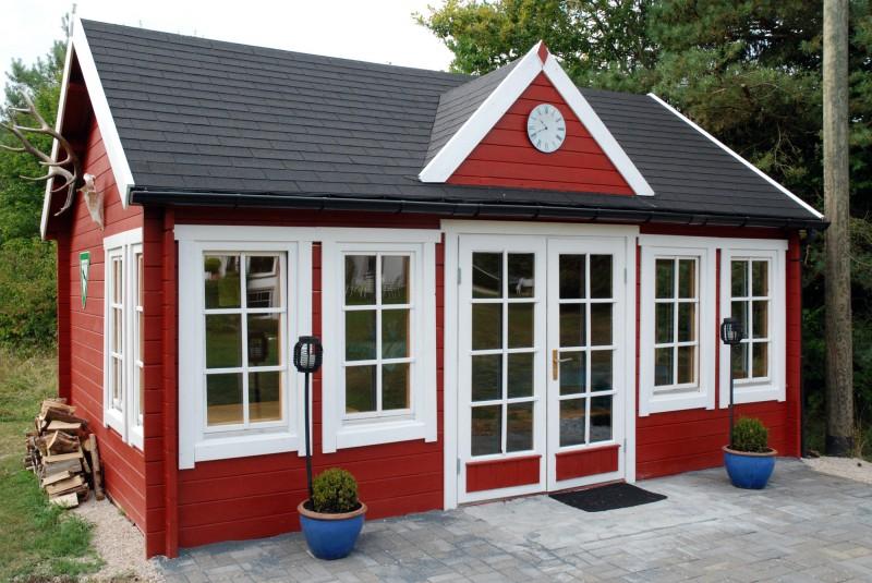 Gartenhaus modell clockhouse xl - Clockhouse gartenhaus ...