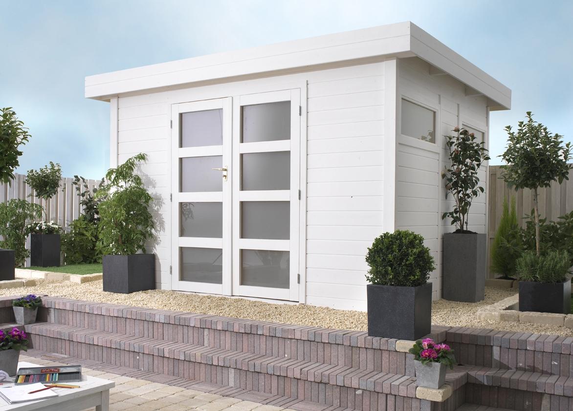 flachdach gartenhaus violet. Black Bedroom Furniture Sets. Home Design Ideas