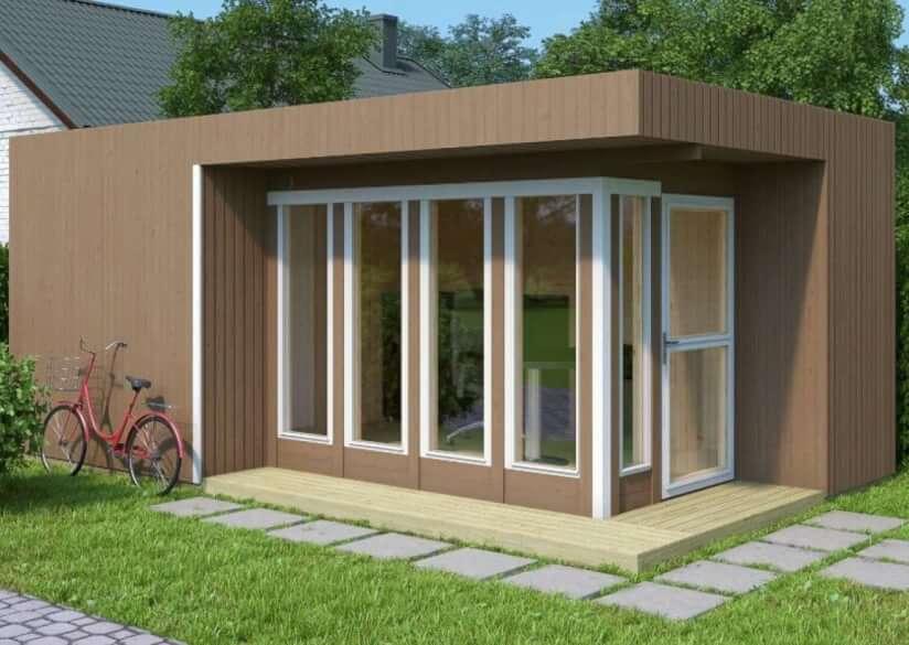 Gartenhaus Elementbauweise