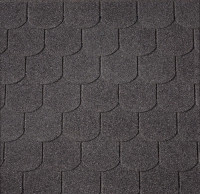 Dachschindeln Biberschwanz schwarz, 3m²