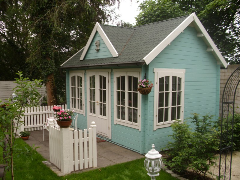 gartenhaus modell clockhouse 28. Black Bedroom Furniture Sets. Home Design Ideas