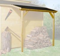Schleppdach für 19 und 21 mm, 80 x 200 cm, lasiert