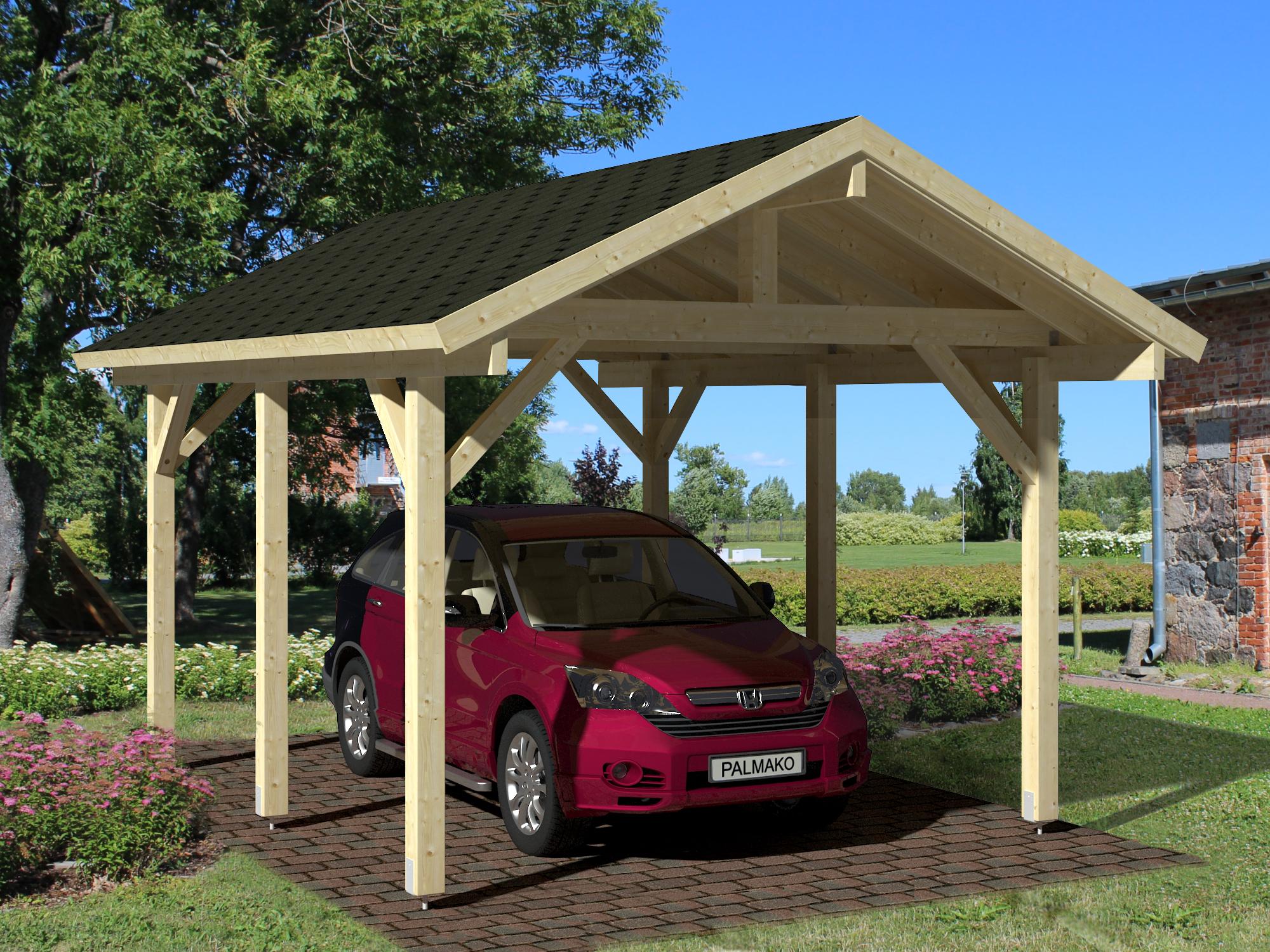 palmako carport robert 11 7 m cp3237. Black Bedroom Furniture Sets. Home Design Ideas