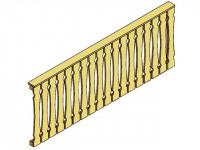 Balkonschalung-Seitenwand für Terrassenüberdachung Leimholz 350