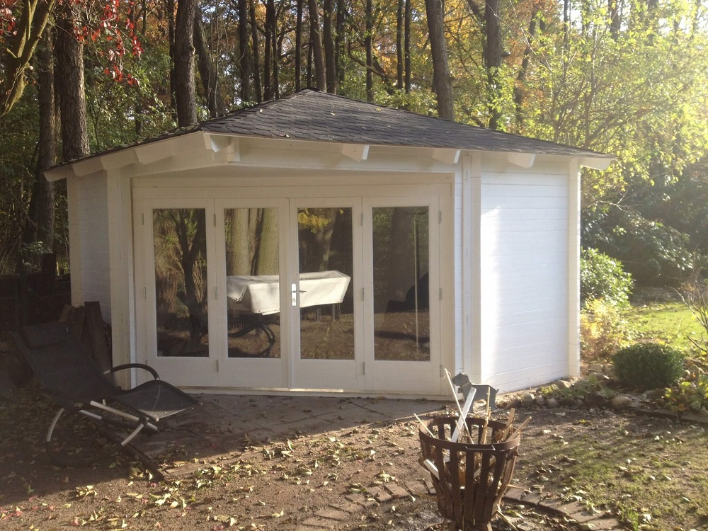 5 eck gartenhaus sophie 44 mit gro er faltt r. Black Bedroom Furniture Sets. Home Design Ideas