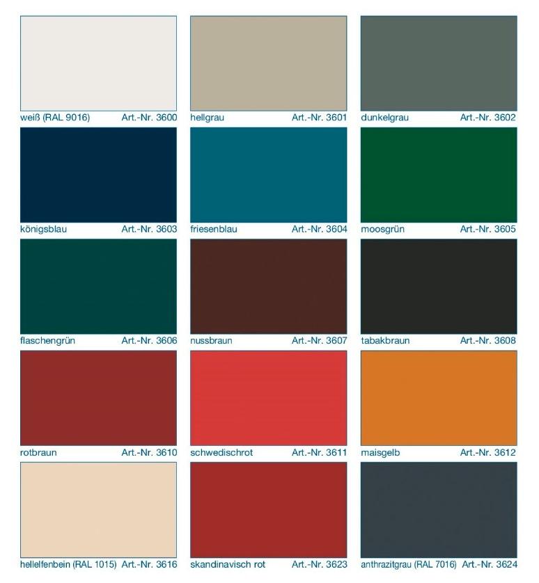 Farbtonkarte Remmers-AIDOL-Deckfarbe