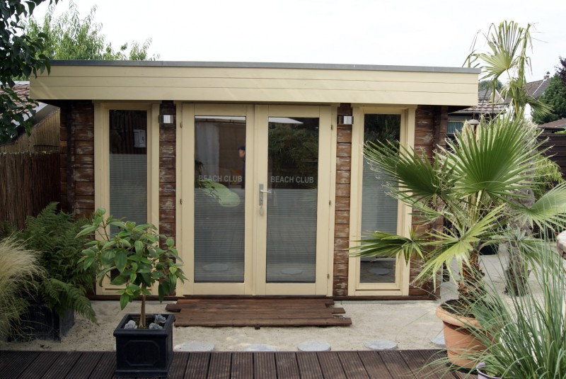 flachdach gartenhaus modell madera 44 a iso madera 44 a iso. Black Bedroom Furniture Sets. Home Design Ideas
