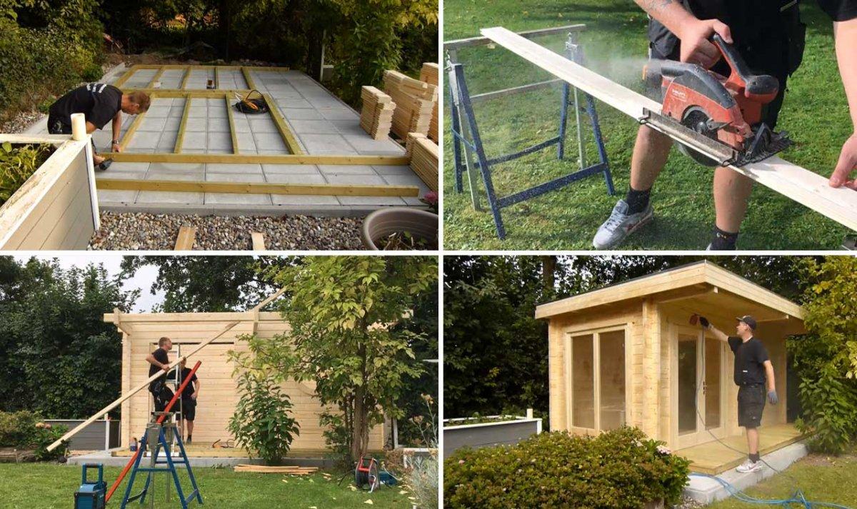 Sauna aufbauen schritt f r schritt video tutorial - Gartenhaus24 de ...