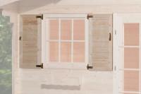 Fensterladen 2-seitig für Fenster 91x91cm