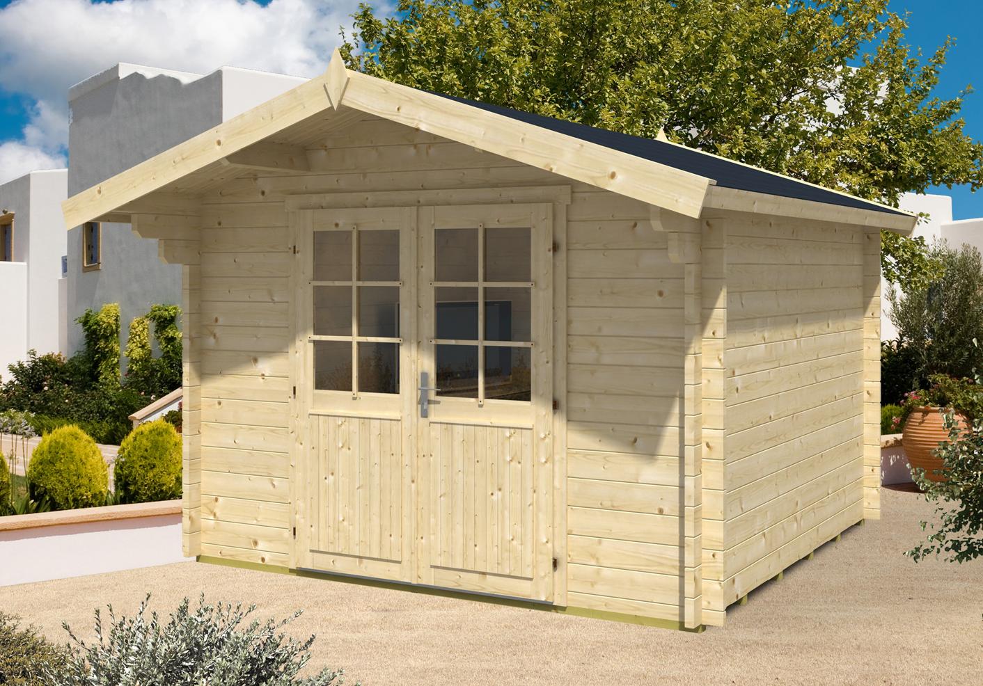 gartenhaus anna 44 iso t02344. Black Bedroom Furniture Sets. Home Design Ideas