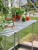 Abklappbarer Tisch aus Aluminium
