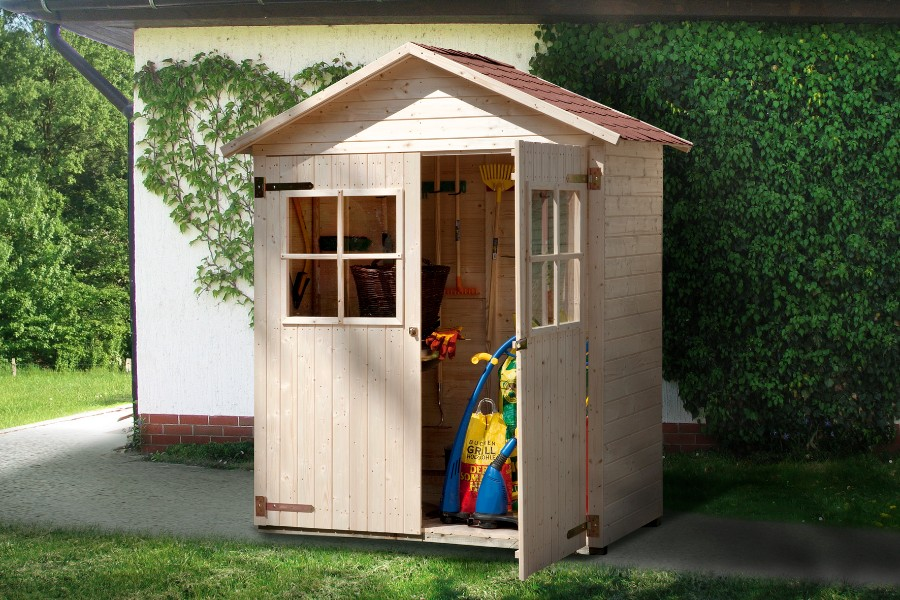 weka garten terrassenschrank 357 gr 2 14 mm. Black Bedroom Furniture Sets. Home Design Ideas