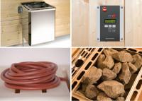WEKA Dampfbad-Sauna-Kombi Ofenset 5 BioS 4,5 kW
