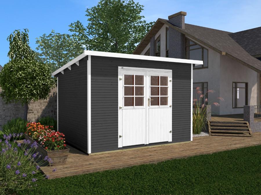 weka gartenhaus 219 gr 1 3. Black Bedroom Furniture Sets. Home Design Ideas