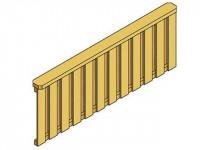 Brüstung Deckelschalung für Terrassenüberdachung Douglasie 170