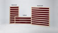 Infrarot-Flächenheizung - Fußteil-Element - Fichte