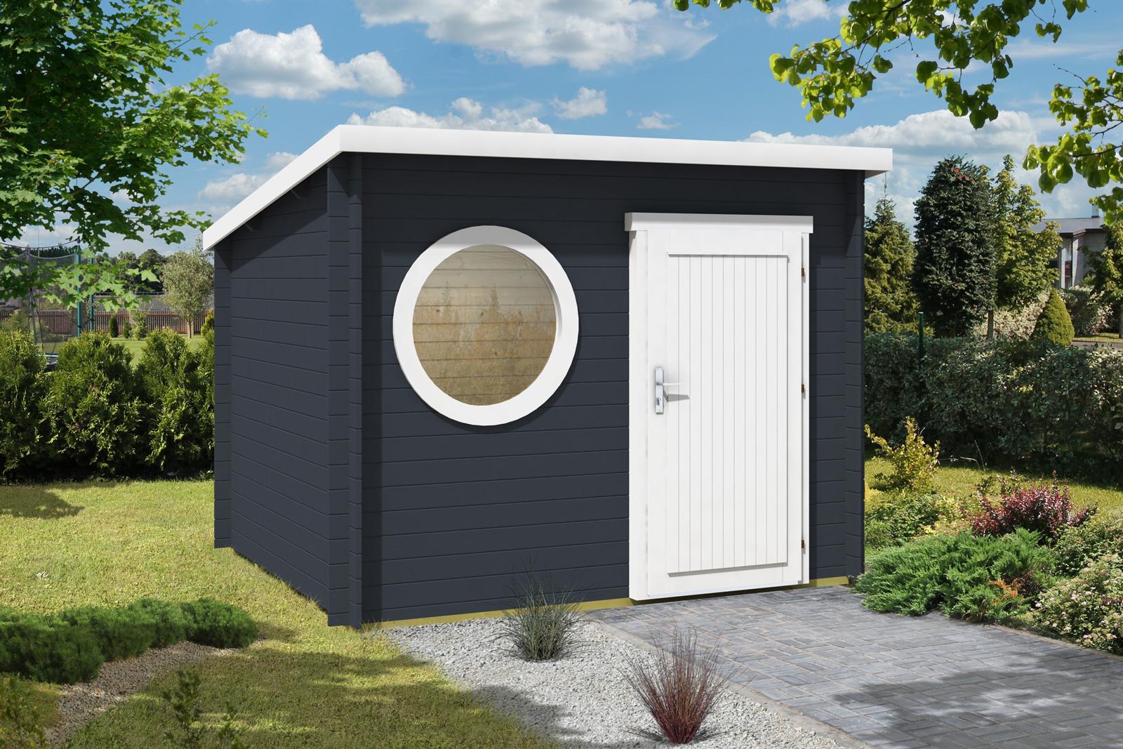 Gartenhaus maria rondo 44 a - Gartenhaus metall modern ...